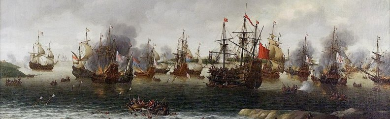 Dutch Attack on the Medway, June 1667 by Pieter Cornelisz van Soest